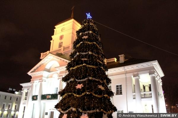 Minsk City Hall Christmas, Городская Ратуша в Минске Рождество