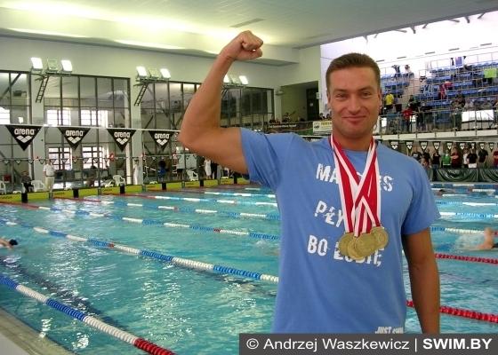 Andrzej Waszkewicz - Mistrzostwa Polski w pływaniu masters Kraków-2013