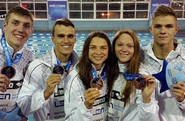 4x50 medley relay mixed, Belarus swimming team, Netanya 2015