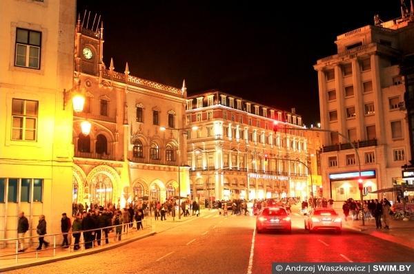 Ночной Лиссабон праздник Новый год в Европе, Андрей Вашкевич блог плавание