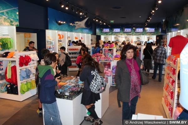 сувенирный магазин, souvenir shop Oceanarium Lisbon