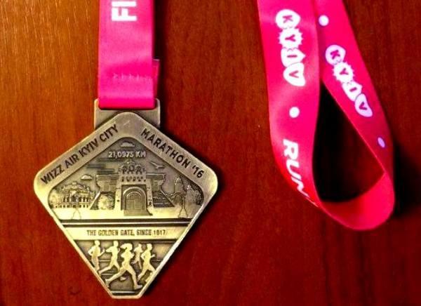 Одиссей Дельянов, Kyiv Marathon 2016, медаль полумарафон в Киеве