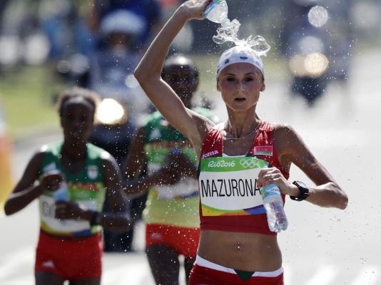 Ольга Мазуренок, марафон