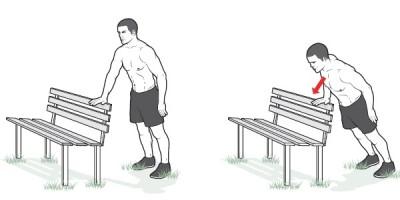 Отжимания, тренировки в парке, Andrzej Waszkewicz