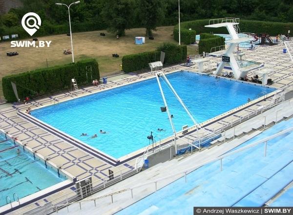 Ourdoor diving pool Podolí, Prague, бассейн для дайвинга, бассейн для прыжков в воду в Праге