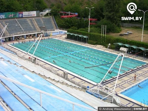 Ourdoor swimming pool Podolí in Prague, открытый плавательный бассейн в Праге