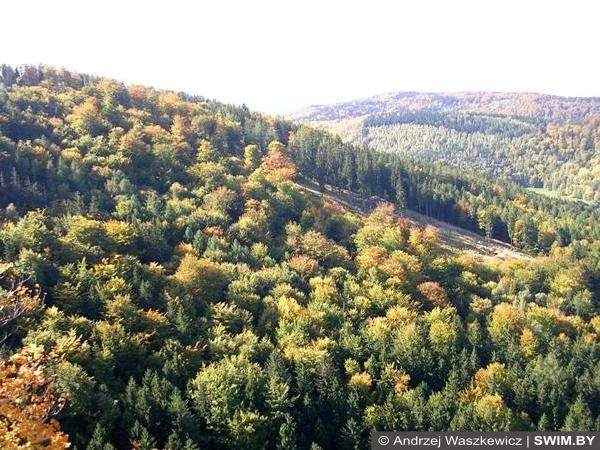 Панорама горы Польша