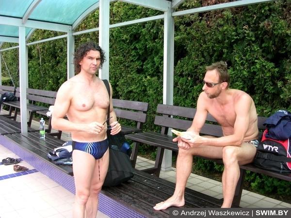 Petr Gregor, Vlad Bragin, тренировки плавание