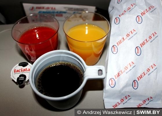 Andrzej Waszkewicz, питание в самолётах Belavia