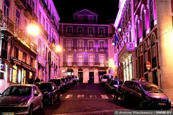Подсветка здания архитектура в Лиссабоне