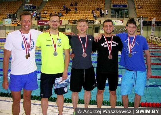 Andrzej Waszkewicz, Polish swimming masters championships, Szczecin, 2015