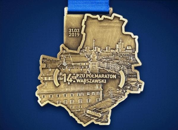 Półmaraton Warszawski 2019 Medal, www.swim.by, Medal Półmaratonu Warszawskiego 2019, Swim.by