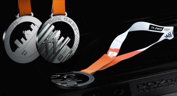 Poznan Half Marathon 2018, Poznań Półmaraton medal, Poland Running, www.swim.by, Poland Half Marathon, PKO Poznań Półmaraton 2018 medal, Swim.by