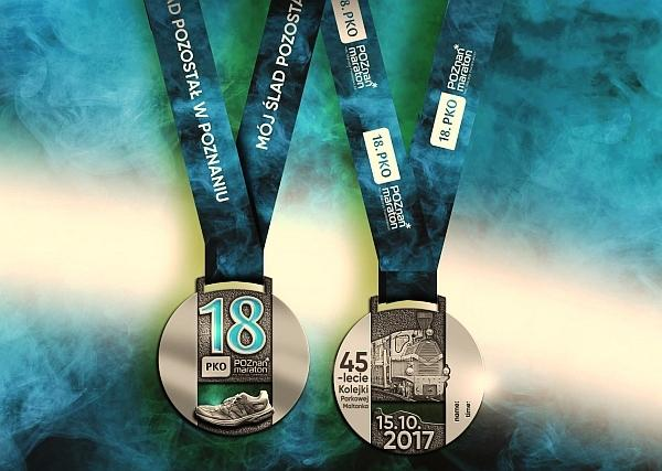 Poznan Marathon 2017 medal, Марафон в Познани медаль