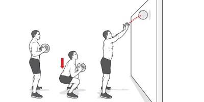 Приседания, мяч, упражнения, тренировка в парке