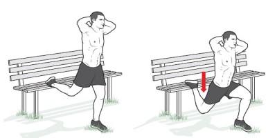 Приседания на одной ноге, тренировки, Swim.by
