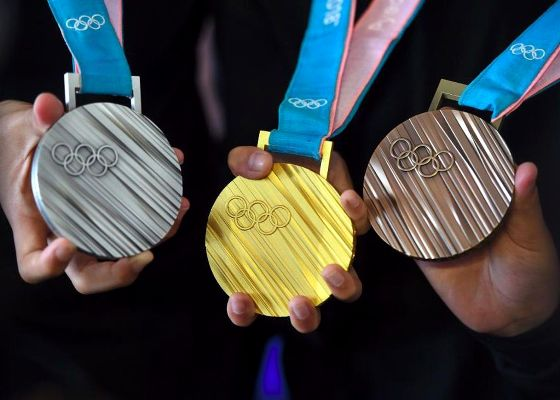 How much is a medal of PyeongChang 2018, How much is Olympic Medal, Swim.by