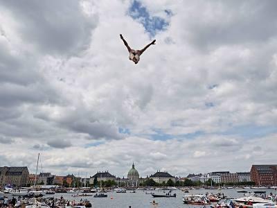 Red Bull Cliff Diving Копенгаген, клифф-дайвинг, прыжки в воду с высоты