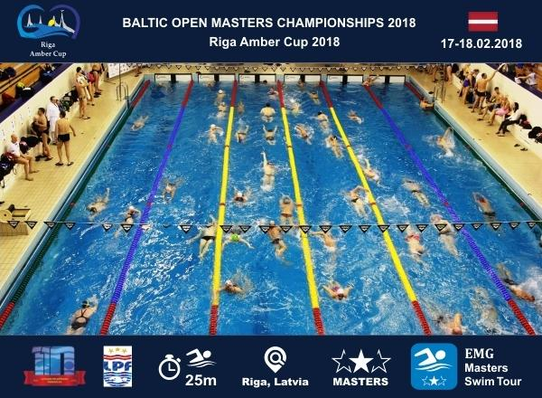 Baltic Open Masters Swimming Championships 2018, Riga Amber Cup 2018, Masters Swimming, EMG Masters Swim Tour