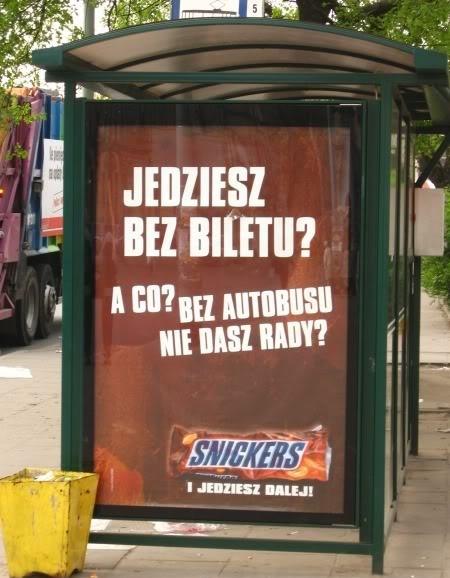 Snickers, Польша, реклама