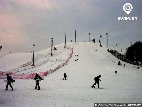 Катание на горных лыжах, сноуборд, Горнолыжный центр Солнечная Долина, Ski center Sunny Valley, Minsk