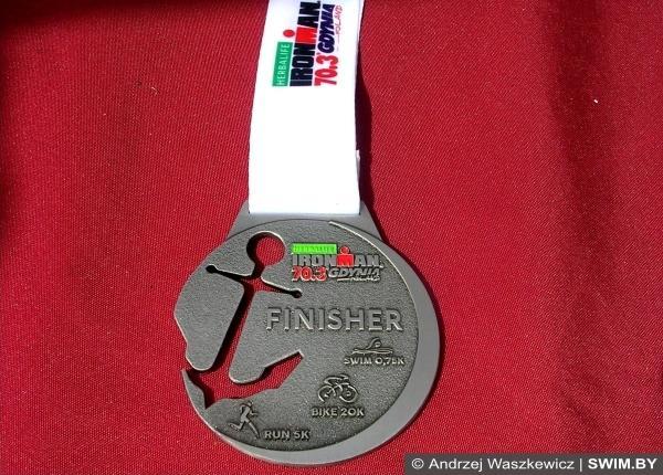 Sprint Triathlon Gdynia 2016, спортивные медали 2016, спринт триатлон Гдыня, Swim.by