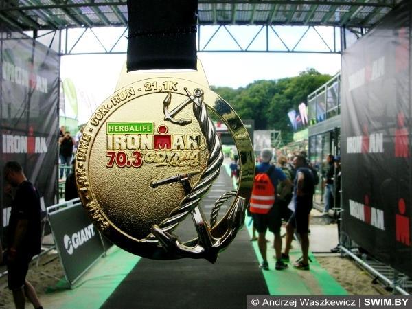 Triathlon IRONMAN 70.3 Gdynia 2016, спортивные медали 2016, триатлон Ironman, триатлон Гдыня, Swim.by