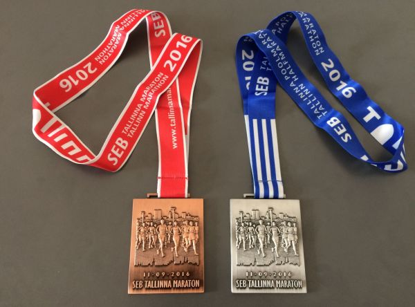 Tallinn Marathon 2016, спортивные медали 2016, Марафон в Таллинне, Swim.by