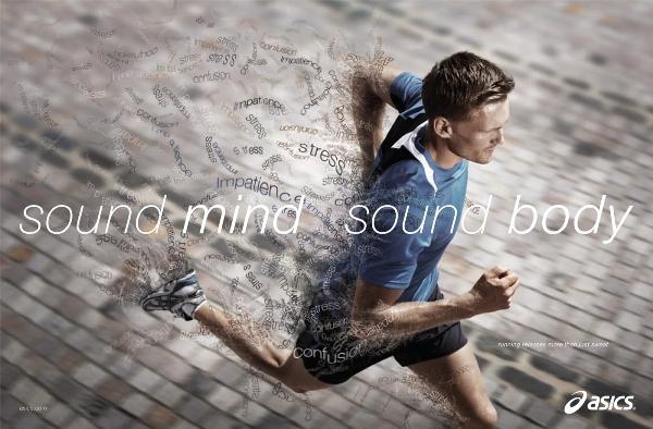 Спортивная реклама Asics
