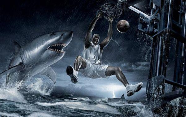 Спортивная реклама, баскетбол, Shaquille O'Neal, Шакил Онил