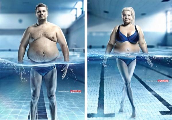 Спортивная реклама, фитнес клуб Sport Life