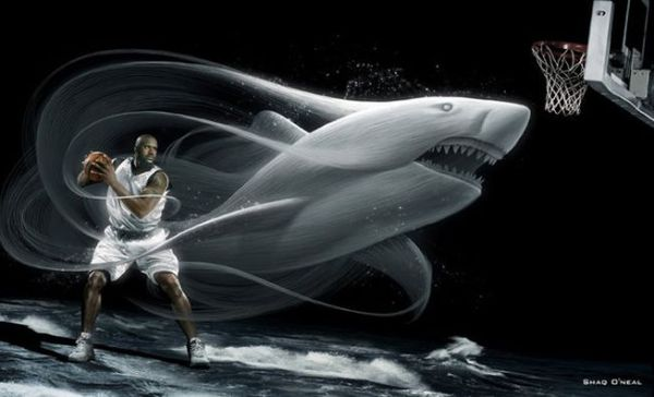 Спортивная реклама, Shaquille O'Neal, баскетбол
