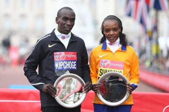 Sports Awards 2016, Элиуд Кипчоге, Джемима Сумгонг, лучшие марафонцы 2016 года, лучшие марафонцы мира, Swim.by