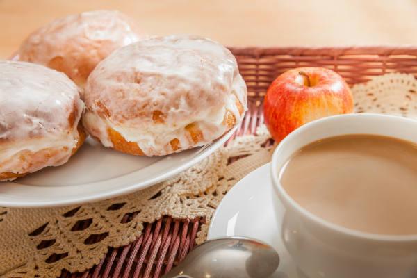 Tłusty czwartek, праздник, пончики, кофе