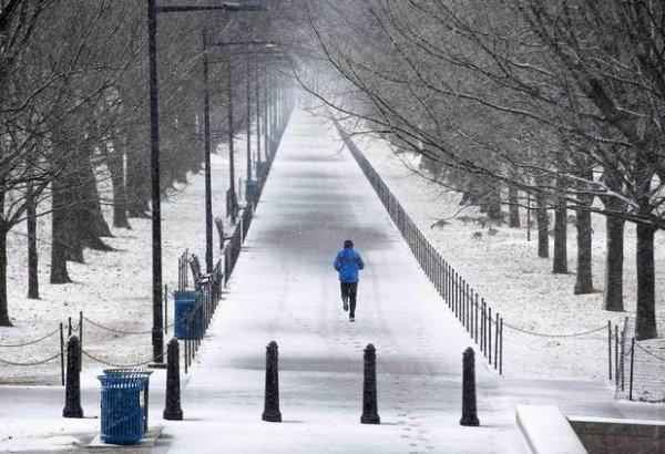Тренировки зимой, бег, велосипед