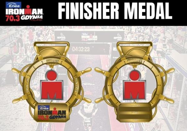 Triathlon IRONMAN 70.3 Gdynia 2019 Medal, Enea IRONMAN 70.3 Gdynia, www.swim.by, Triathlon IRONMAN, IRONMAN 70.3 Gdynia, IRONMAN Poland, Swim.by