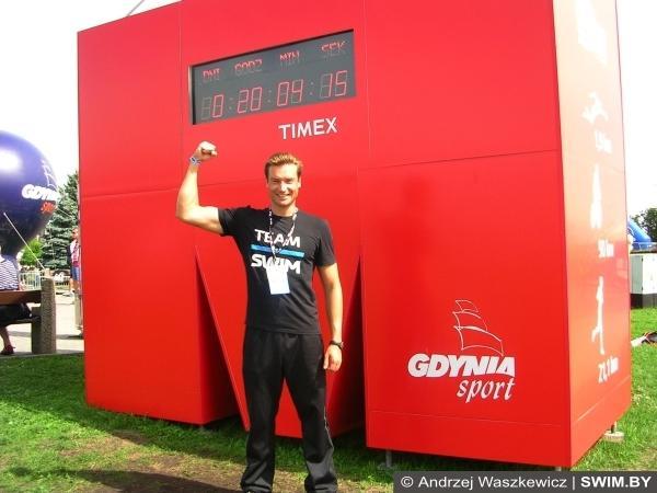 Andrzej Waszkewicz, триатлон IRONMAN 70.3 Gdynia 2016, Андрей Вашкевич триатлон, Анджей Вашкевич триатлон Ironman, Swim.by