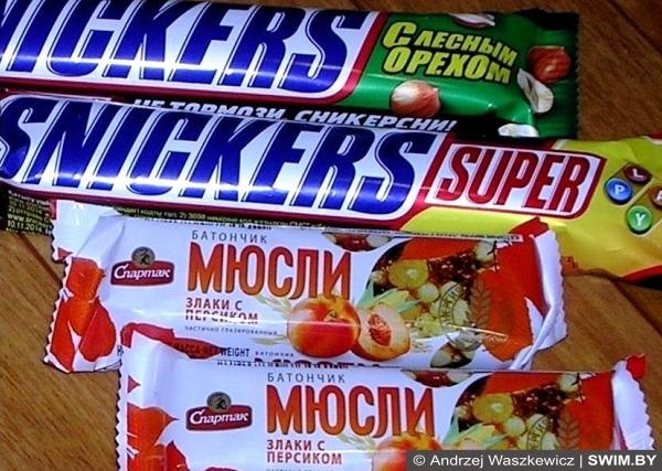 Спортивное питание, протеиновые батончики, углеводные батончики, Андрей Вашкевич плавание