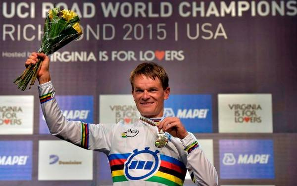 Vasil Kiryienka, best cyclist of the year 2015