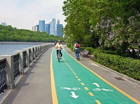 Велодорожки в центре Москвы, велодорожки Москвы