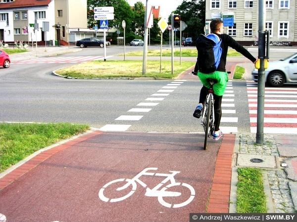 Велодорожки в Щецине, Польша