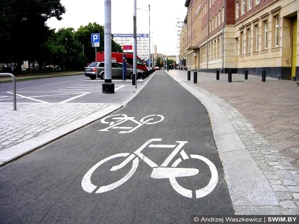 Велокарта, велосипедные дорожки, Щецин, Польша
