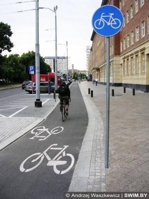 Велосипедные дорожки, Щецин, Польша