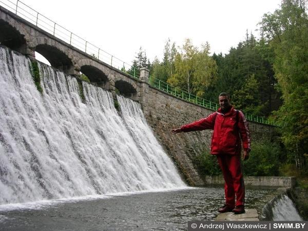 Водопад, дамба, Польша