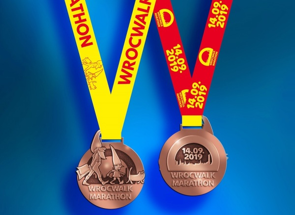 WrocWalk Marathon Medal 2019, WrocWalk Marathon 2019, Walking Marathon, www.walking.by, WrocWalk Marathon, Wroclaw Walking Marathon, Walking.by